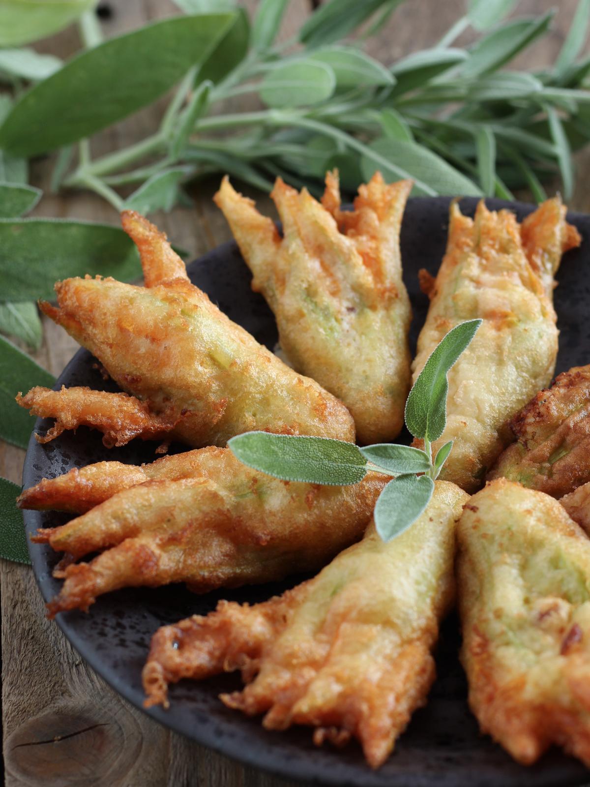 Fiori di Zucca fritti con pastella alla Schweppes – Profumo di Limoni